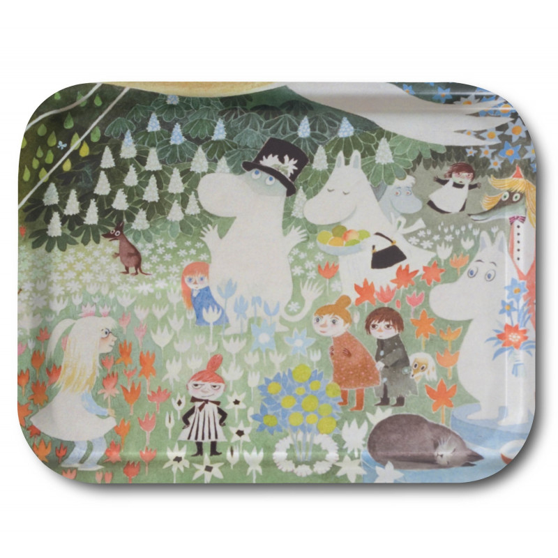 Moomin Birch Tray Dangerous Journey 36 x 28 cm