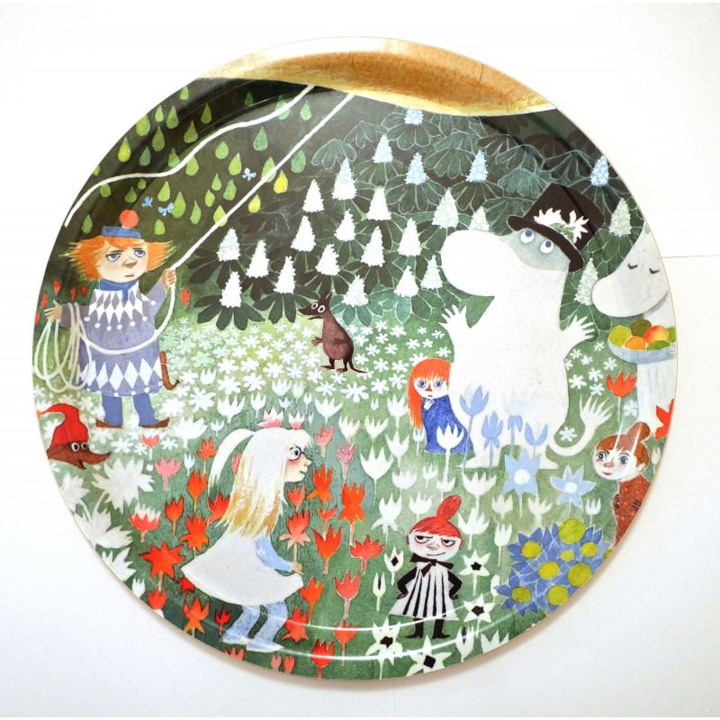 Moomin Birch Tray Round 31 cm Dangerous Journey