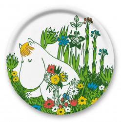 Moomin Birch Tray Round 31 cm Snorkmaiden Summer