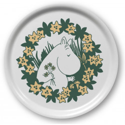 Moomin Birch Tray Round 31 cm Moomin 70 Years
