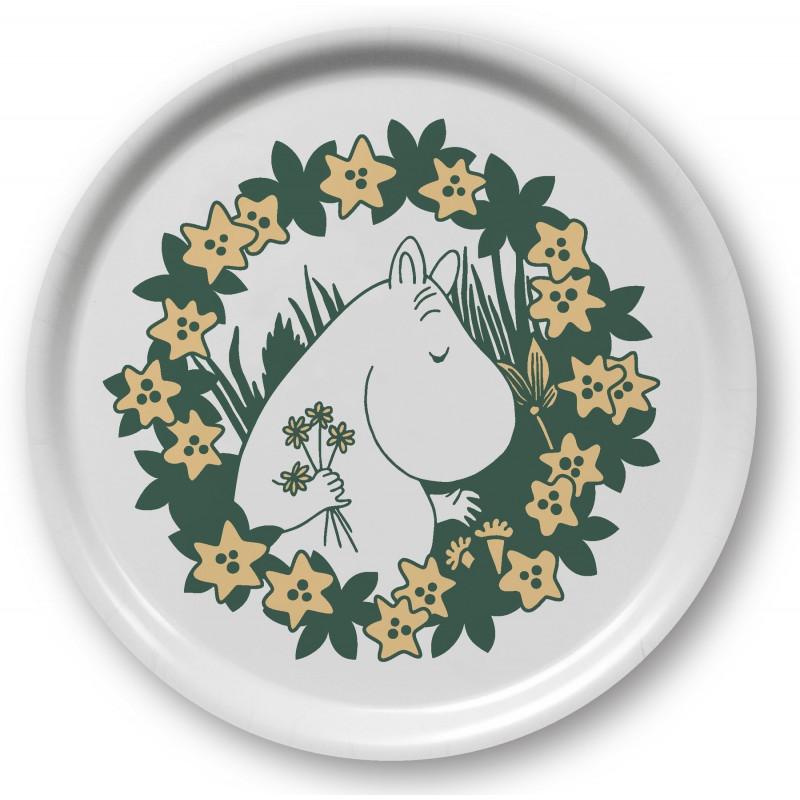 Moomin Birch Tray Round 31 cm Moomin 70 Years
