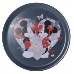 Disney Birch Round Tray Minnie Dark Grey 35 cm Muurla