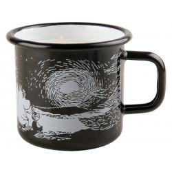 Moomin Enamel Mug with Candle Sunset Black 0.37 L