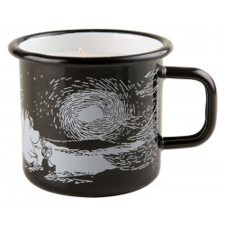 Moomin Enamel Mug with Candle Sunset Black 0.37 L