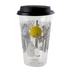 Moomin Glass Tumbler for Hot Drinks with Silicon Lid 0.4 L
