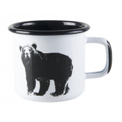 Muurla Nordic Enamel Mug Bear 0.37 L
