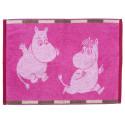 Moomin Towel Ruutu Moomin Pink Brown 50 x 70 cm