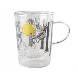 Muurla Moomin Forest Glass Tumbler for Hot Drinks with Handle