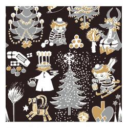 Moomin Paper Napkins Christmas Black 20 pcs 33 x 33 cm