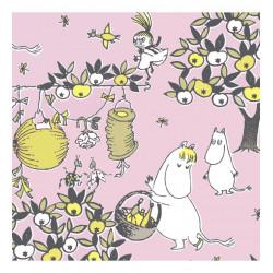 Moomin Paper Napkins Celebration Pink 20 pcs 33 x 33 cm
