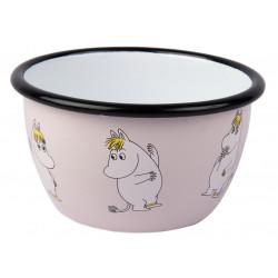 Moomin Retro Enamel Bowl Snorkmaiden 0.6 L Muurla