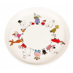 Moomin Plastic Plate Friends 19,5 cm