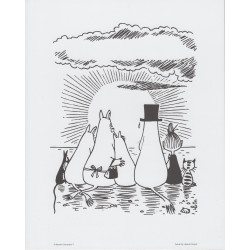Moomin Poster Sunset 24 x 30 cm Putinki