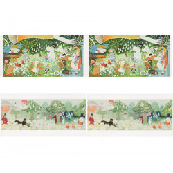 Moomin Panorama Postcards Set of 4 - 2 Models