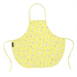 Moomin Friends Children Oil Cloth Apron Yellow Celebration Tove 100 57 x 50 cm