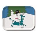 Moomin Birch Tray Winter Snorkmaiden Reindeer 20 x 27 cm Optodesign