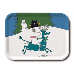 Moomin Birch Tray Winter Snorkmaiden Reindeer 20 x 27 cm Optodesign