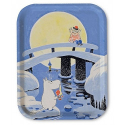 Moomin Birch Tray Midwinter 20 x 27 cm Optodesign