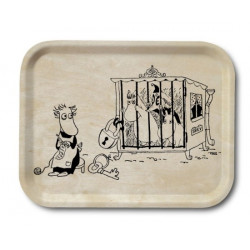Moomin Birch Tray Wood Behind Bars 20 x 27 cm Optodesign