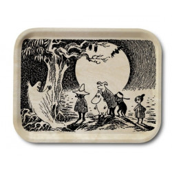 Moomin Birch Tray Wood Ghost 20 x 27 cm Optodesign