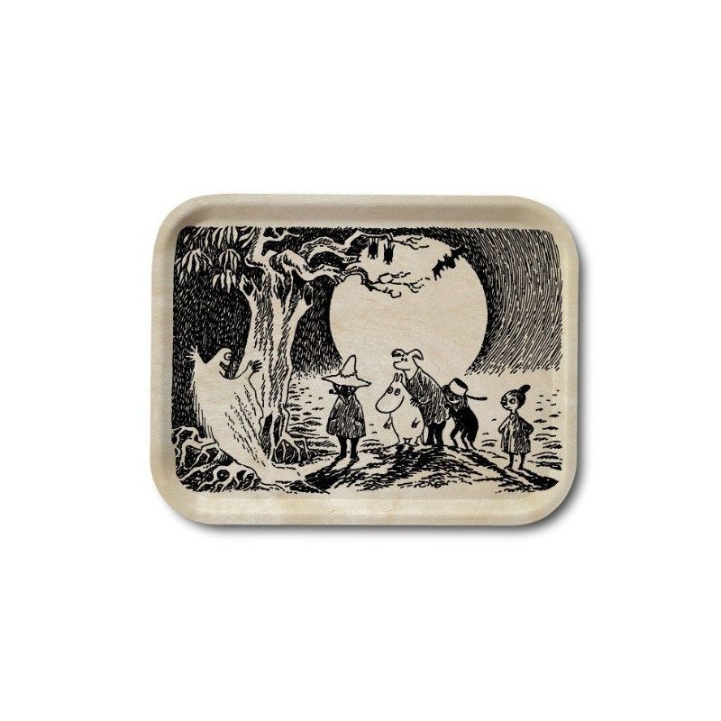 Moomin Birch Tray Wood Ghost 20 x 27 cm Optodesign