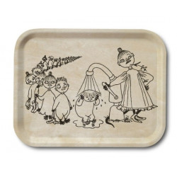 Moomin Birch Tray Wood Shower 20 x 27 cm Optodesign