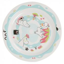 Moomin Pond Melamine Plate 21.5 cm