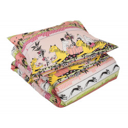 Moomin Duvet Cover Pillowcase Set Tropical Pink 150 x 210 cm