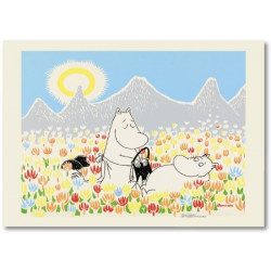 Moomin Poster Moomin on the Medow 50 x 70 cm Optodesign