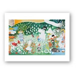 Moomin Poster A3 Dangerous Journey Optodesign