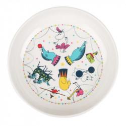 Moomin Children Deep Plate Melamine Circus 17 cm Martinex