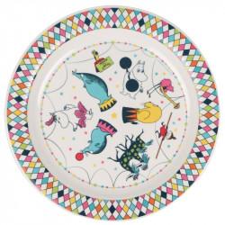 Moomin Children Plate Melamine Circus 21 cm Martinex