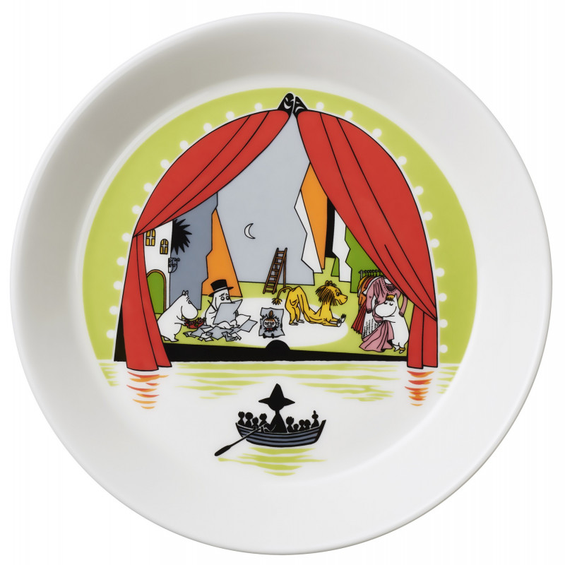 Moomin Seasonal Plate 19 cm Summer Theater Summer 2017 Arabia