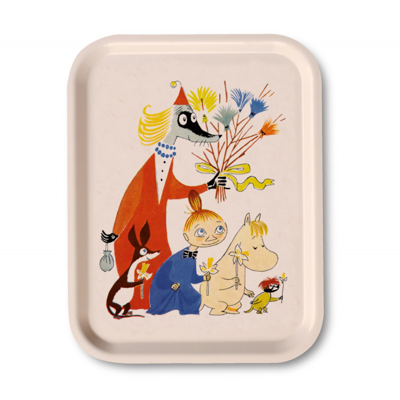Moomin Birch Tray Easter White 27 x 20 cm Optodesign