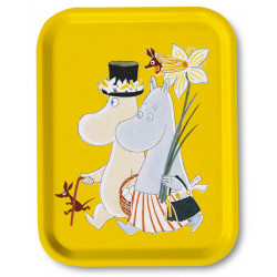 Moomin Birch Tray Easter Yellow 27 x 20 cm Optodesign