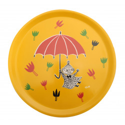 Moomin Round Birch Tray 31 cm Little My Umbrella Muurla