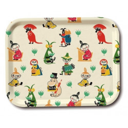 Moomin Birch Tray Retro 50' Pattern 27 x 20 cm