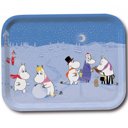 Moomin Tray Winter Games 27 x 20 cm Optodesign
