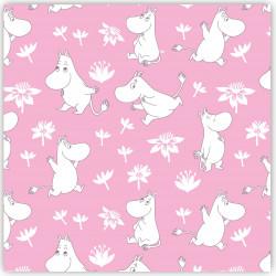 Moomin Napkins Moomintroll Pink 33 x 33 cm