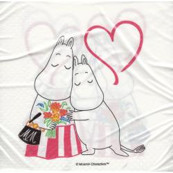 Moomin Napkins Mothers Day 33 x 33 cm Optodesign