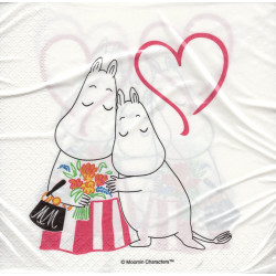 Moomin Paper Napkins Mothers Day 33 x 33 cm Optodesign