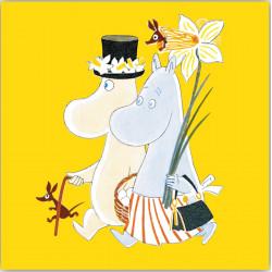 Moomin Napkins Easter Yellow 33 x 33 cm 20 pcs Optodesign