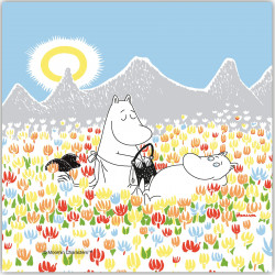 Moomin Paper Napkins On The Meadow 33 x 33 cm 20 pcs Optodesign