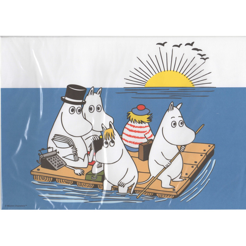 Moomin Family on the Raft Poster 42 x 29.5 cm Karto