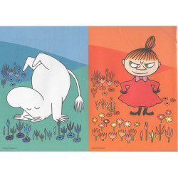Moomin Posters 2 pcs Moomintroll and Little My 21 x 29.5 cm Karto