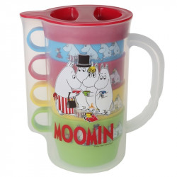 Moomin Picnic Plastic Jug and 4 Mugs Martinex