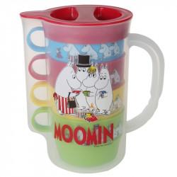 Moomin Picnic Plastic Jug and 4 Mugs Martinex
