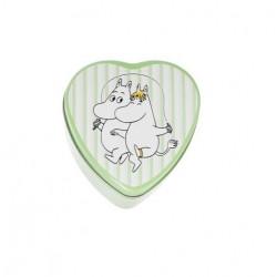 Moomin Heart Jar Moomintroll Snorkmaiden Green Martinex