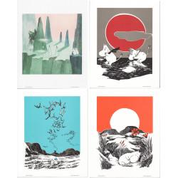 Moomin Retro Posters 24 x 30 cm Set of 4 Putinki (Set 2)