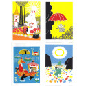 Moomin Set of 4 Posters 24 x 30 cm